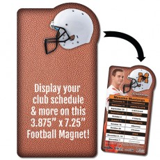 "Football Helmet Schedule Magnet - 3.875"" x 7.25"""