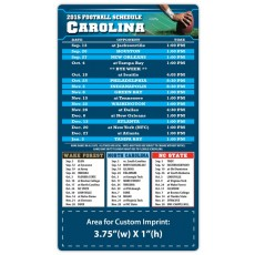 "Carolina Panthers (North) Pro Football Schedule Magnets 4"" x 7"""