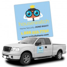 "24"" x 24"" Magnetic Car Signs Custom Printed"