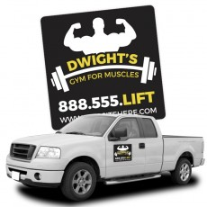 "Custom 12"" x 12"" Square Magnetic Car Signs"