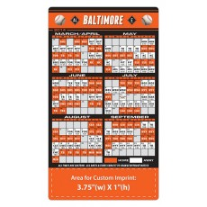 "Baltimore Orioles Baseball Team Schedule Magnets 4"" x 7"""