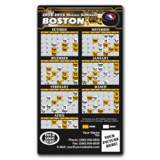 "Boston Bruins Pro Hockey Schedule Magnets 4"" x 7"""
