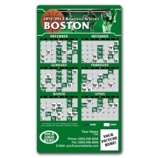 "Boston Celtics Basketball Team Schedule Magnets 4"" x 7"""