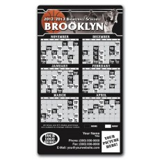 "Brooklyn Nets Basketball Team Schedule Magnets 4"" x 7"""