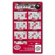 "Chicago Blackhawks Pro Hockey Schedule Magnets 4"" x 7"""