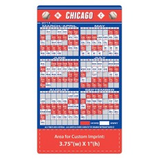 "Chicago Cubs Baseball Team Schedule Magnets 4"" x 7"""