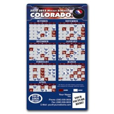 "Colorado Avalanche Pro Hockey Schedule Magnets 4"" x 7"""