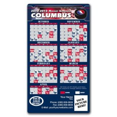 "Columbus Blue Jackets Hockey Schedule Magnets 4"" x 7"""