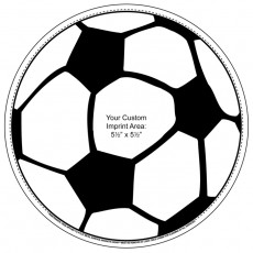 Custom Soccer Ball Magnetic Car Sign 5.75""
