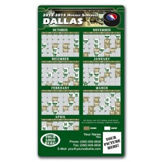 "Dallas Stars Pro Hockey Schedule Magnets 4"" x 7"""