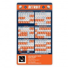"Detroit Tigers Baseball Team Schedule Magnets 4"" x 7"""