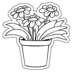 "Custom Flower Pot Shaped Magnets 3"" x 3"""