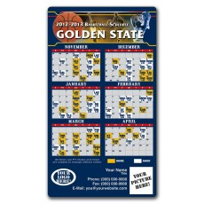 "Golden State Warriors Basketball Team Schedule Magnets 4"" x 7"""