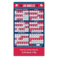 "Los Angeles Angels Baseball Team Schedule Magnets 4"" x 7"""
