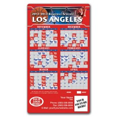 """Los Angeles Clippers Basketball Team Schedule Magnets 4"""" x 7"""""""