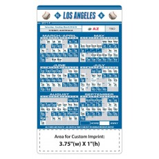 "Los Angeles Dodgers Baseball Team Schedule Magnets 4"" x 7"""
