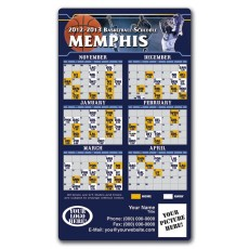"Memphis Grizzlies Basketball Team Schedule Magnets 4"" x 7"""
