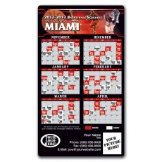 "Miami Heat Basketball Team Schedule Magnets 4"" x 7"""
