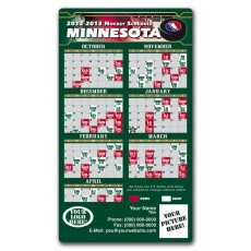 "Minnesota Wild Pro Hockey Schedule Magnets 4"" x 7"""
