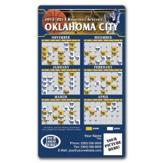 "Oklahoma City Thunder Basketball Team Schedule Magnets 4"" x 7"""