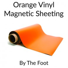 Orange Vinyl Magnetic Sheeting - By the Foot