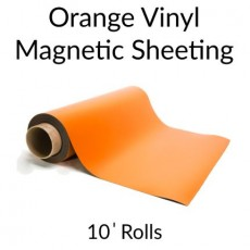Orange Vinyl Magnetic Sheeting 10' Rolls