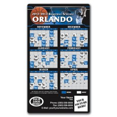 "Orlando Magic Basketball Team Schedule Magnets 4"" x 7"""
