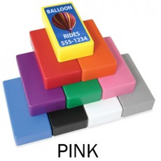 "1"" x 2"" Pink Strong Block Magnets"