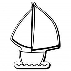 "Sailboat Shaped Magnets 2.875"" x 2.8125"""
