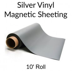 Silver Vinyl Magnetic Sheeting 10' Rolls