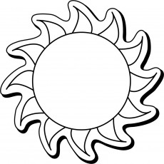 "Custom Sun Shaped Magnets 2.5"" x 2.5"""