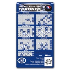 "Toronto Maple Leafs Pro Hockey Schedule Magnets 4"" x 7"""