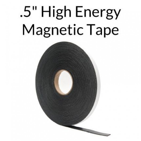 "High Energy Magnetic Tape w/ Outdoor Adhesive .5"" x 100'"