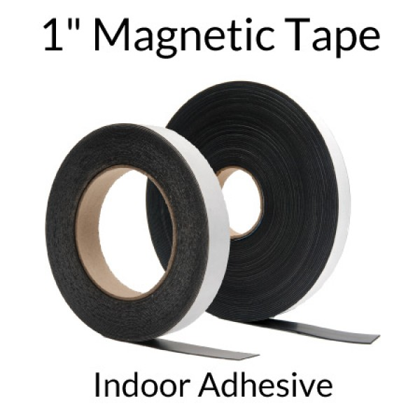 "1"" Magnetic Tape with Indoor Adhesive"
