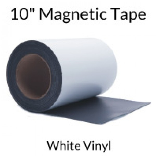 "10"" Magnetic Tape with White Vinyl"