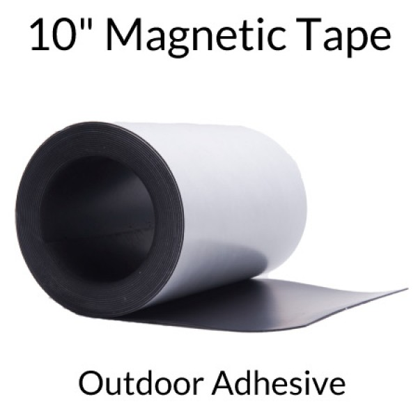 "10"" Magnetic Tape with Outdoor Adhesive"