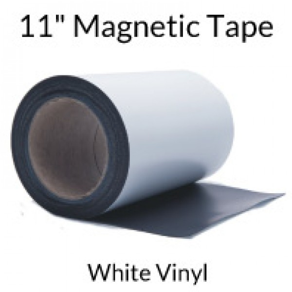 "11"" Magnetic Tape with White Vinyl Face"