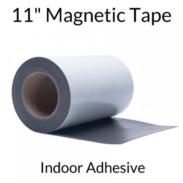 "11"" Magnetic Tape with Indoor Adhesive"