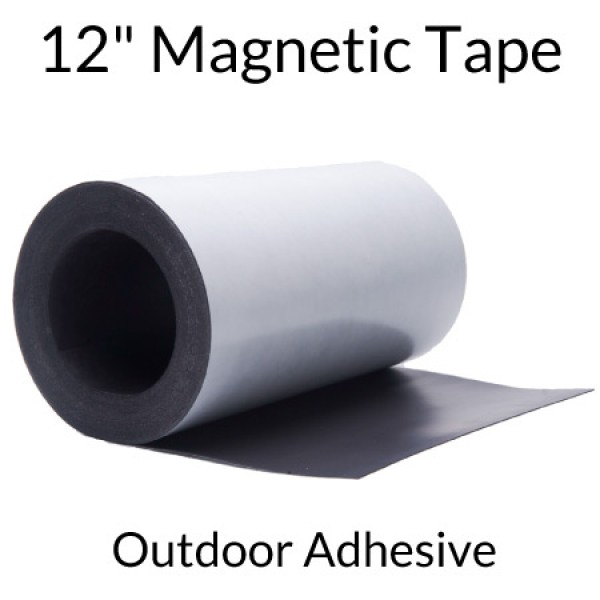 "12"" Wide Magnetic Tape with Outdoor Adhesive"