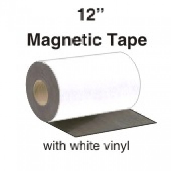 12 Quot Magnetic Tape With White Vinyl Face Custom Magnets