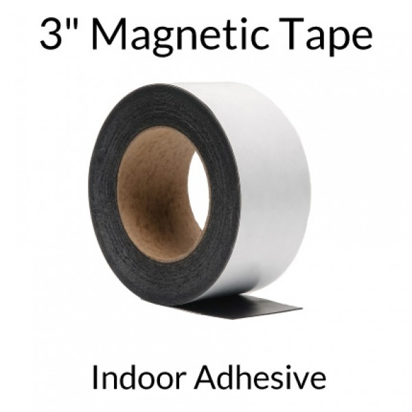 "3"" Magnetic Tape with Indoor Adhesive"