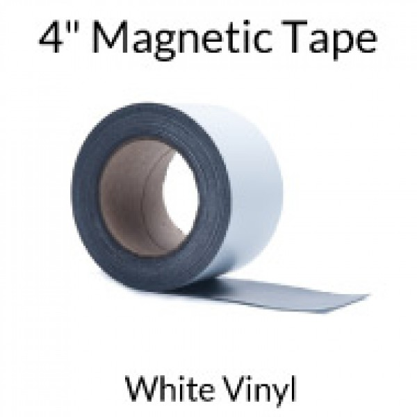 "4"" Magnetic Tape with White Vinyl"
