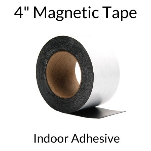 "4"" Magnetic Tape with Indoor Adhesive"