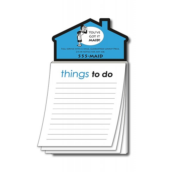 """Custom House Shaped Magnet with """"Things to Do"""" Notepad"""