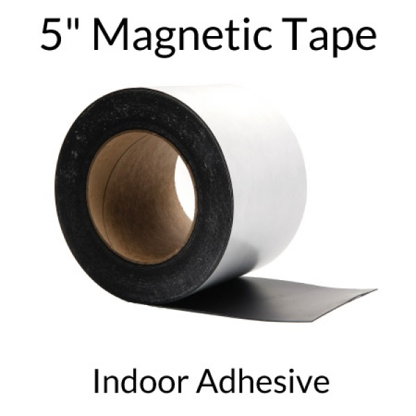"""5"""" Magnetic Tape with Indoor Adhesive"""