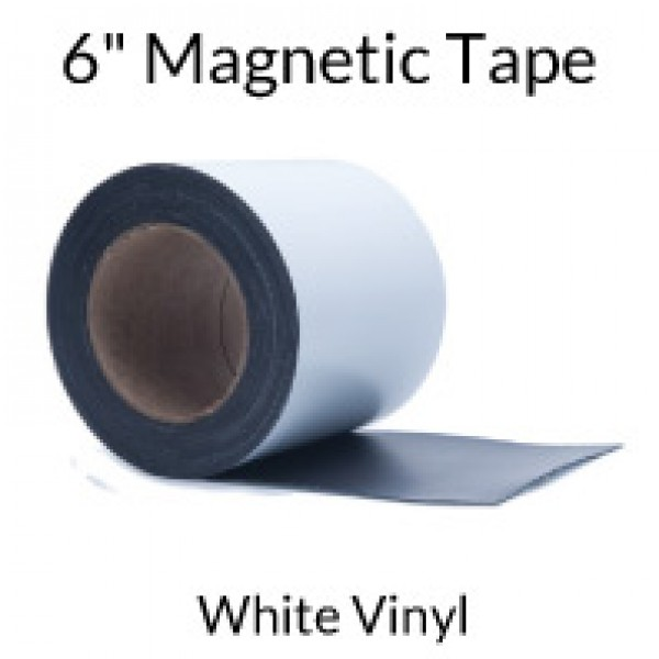 "6"" Magnetic Tape with White Vinyl"