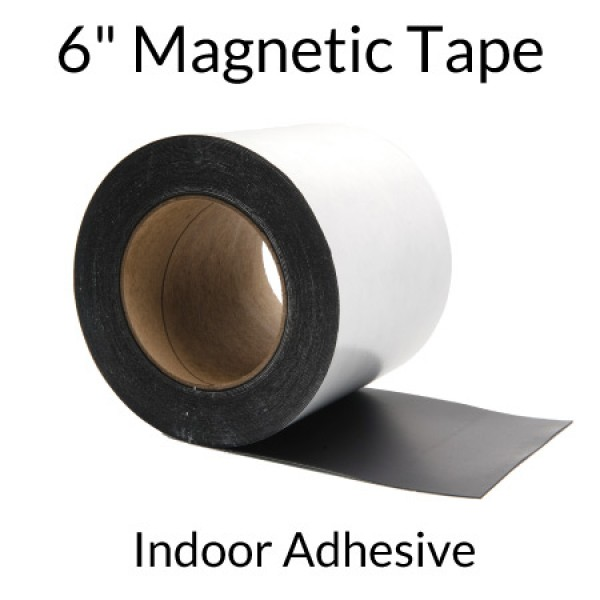 "6"" Magnetic Tape with Indoor Adhesive"