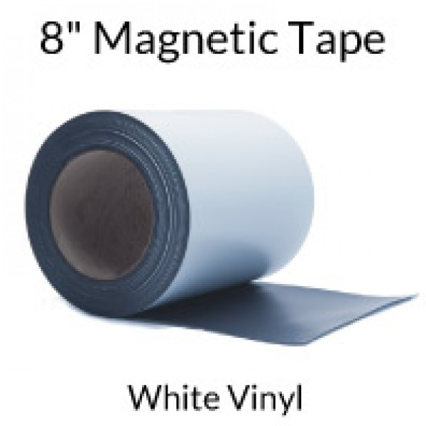 "8"" Magnetic Tape with White Vinyl"
