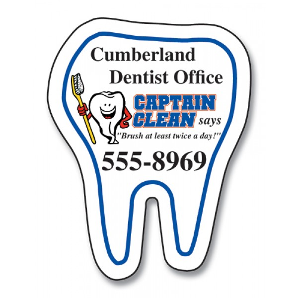 """Custom Tooth Shaped Magnets 1.75"""" x 2.25"""""""