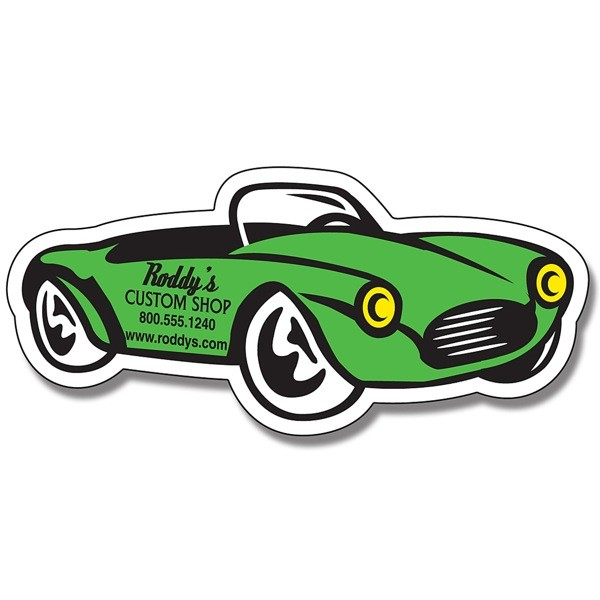 "Custom Convertible Car Shaped Magnets - 4.875"" x 2.25"""